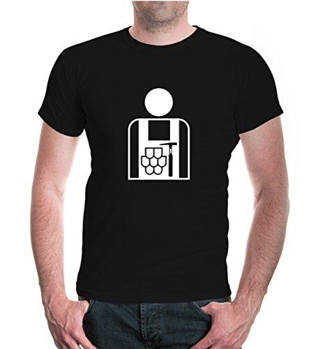T-Shirt Dachdecker-Piktogramm-XXXL-black-white