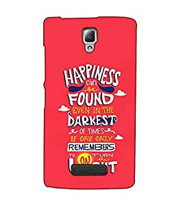 Fuson Designer Back Case Cover for Lenovo A2010 (Happiness can be theme)