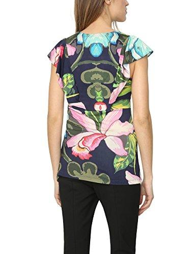 Desigual ERASMO-T-shirt Donna , Blu (Nave 5000), S