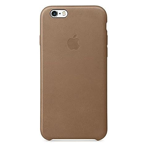 Apple Coque pour iPhone 6s Plus en cuir Marron