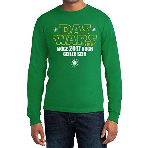 Neujahrs Motiv - Das Wars 2016 Möge 2017 noch Geiler sein Langarm T-Shirt Grün