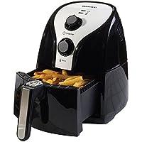 Daewoo Branded Black & Silver Health Low Fat Oil Free Rapid Air Fryer Cooker - 2.5L 1500W