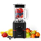 Smoothie Maker 1000W Mixer Blender Edelstahl BESTEK 1000 Watt 3 in 1 Mixer Fleisch Gemüse Zerkleinerer/Eiscrusher,Suppenbereiter,hochleistung küchenmixer,24000 U/min,1.5L Glas-Behälter
