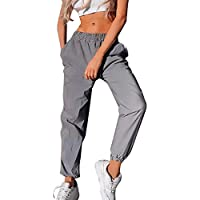 Mujer Pantalones Harajuku Hip Hop Streetwear Pantalones Estilo Callejero Empalmados Pantalones Deportivos De Cintura Alta S-3XL