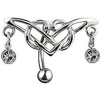 Gekko Body Jewellery Piercing Da Ombelico cerniera tribale Design con