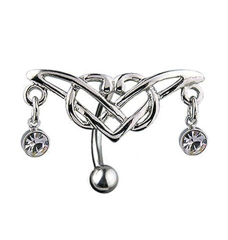 Gekko Body Jewellery Piercing Nombril Charnière Design Tribal avec zircone