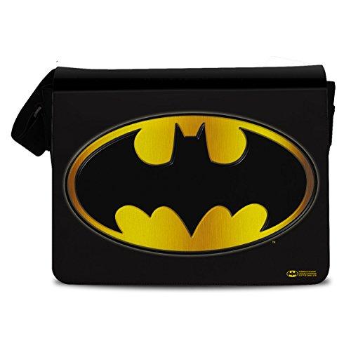 Offizielles Lizenzprodukt Batman Logo Messenger Bag, Umhängetasche -