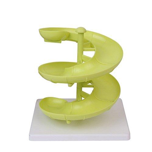 Jungen Egg Run cesta Huevera de Plástico Frutas Dispensador Soporte para huevos de medianos a grandes con base
