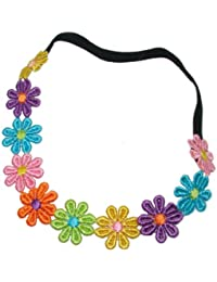 Bling Online Multi Colour Daisy Chain Elasticated Headband.