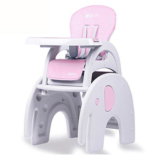 Brisk- 3 In 1 Baby Hochstuhl Tisch Convertible Spieltisch Conversion Seat Booster ( Farbe : Elephant section (pink) ) (Hochstuhl Abdeckung Sommer)