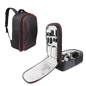 BUBM Taschen & Aufbewahrung, Playstation 4/PS4 Slim/Xbox One Nintendo Wii u Tragetasche Tasche für Reisen mit verstellbarem Schultergurt Schwarz