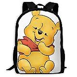 Winnie The Pooh and Butterfly, zaino unisex per la scuola, adatto per computer portatili da 15 pollici Giallo Winnie the Pooh - Espressione divertente taglia unica