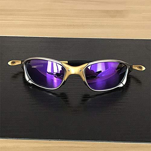 EDSWXT Schutzbrillen Sonnenbrille Männer Polarisierte Radfahren Gläser Legierung Rahmen Sport Reiten Brillen, Lila