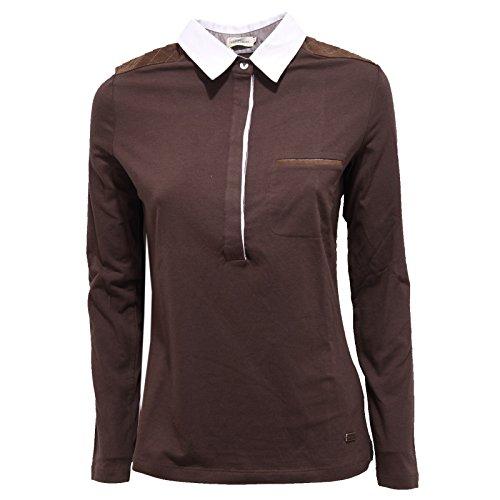 0305R polo donna HENRY COTTON'S STRETCH marrone maglia t-shirt woman [42]