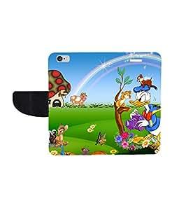 KolorEdge Printed Flip Cover For Apple iphone 6 - Multicolor( KEmLOGO5095Iphone6 )