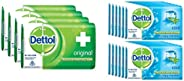 Dettol Original Soap, 125g (Pack Of 4) & Cool Soap - 75 g (Pack of 12) Combo