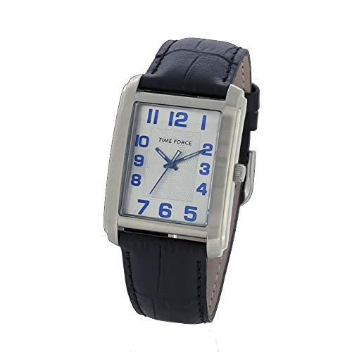 Time Force Reloj Analógico para Hombre de Cuarzo con Correa en Cuero TF4057L12