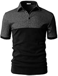 Cenizas Men's Half Sleeves Polo Collort Neck Casual Tshirt/T-Shirt