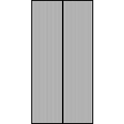 XHCP Magnetic Screen Tür, von Oben nach unten Dichtung automatisch, einfache Installation, automatisch geschlossen, für Balkon Schiebetüren Wohnzimmer - Schwarz 33x77inch (85x195cm)
