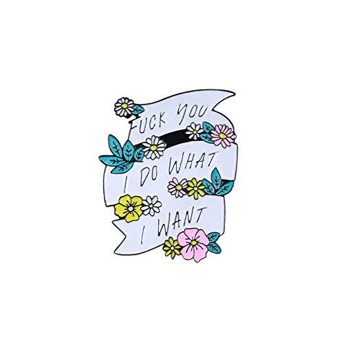 Zuiaidess Broschen Anstecknadeln Für Damen,(3 Pc) Cartoon Creative Fuck You I was Streamer Persönlichkeit Corsage Kragen Pin/Für Frauen Mode Anti-Light Unisex Bekleidung Abzeichen Brosche Pins