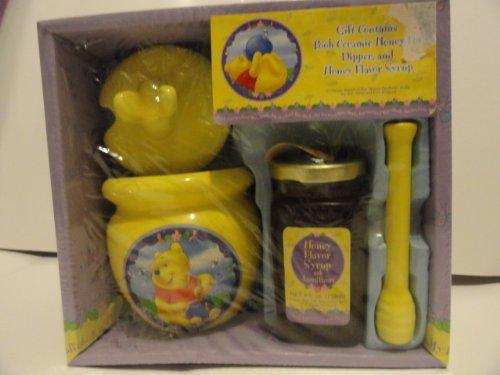 Pooh´s Hunny Pot - Winnie the Pooh Keramik Honigtopf, Rührstab & Sirup (Sammler)