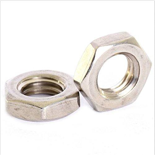 Preisvergleich Produktbild 5 pack A2 Edelstahl Fine-Pitch Sechseck Halb Lock Muttern 6 kant dünn Mutter M12 x 1mm