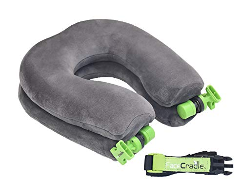 El último modelo de FaceCradle, 5 modos más, función múltiple, soporte Better Neck, Sleep Forward para viajar en avión, automóvil, autobús, tren o para tomar una siesta en cualquier mesa