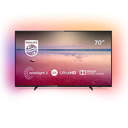 Philips Ambilight 70PUS6704/12 Fernseher 178 cm (70 Zoll) LED Smart TV (4K UHD, HDR 10+, Dolby Vision, Dolby Atmos, Smart TV) Schwarz - Zoll 70 Led Tv