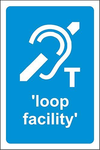 20cmx13.3cm Gehör Loop Werk Sticker Selbstklebend (Label Schild) -