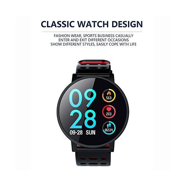 TOOGOO T3 Smart Watch Ip67 Impermeable Smartwatch Presión Arterial Monitor de Ritmo Cardíaco Rastreador de Ejercicios Hombres Wearable Pulsera Inteligente (Negro) 2