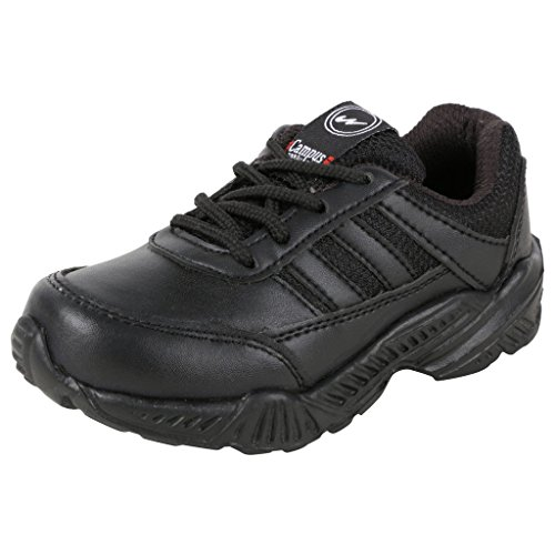 Action Campus Baby Kids 2 to 4 Years Black Ultra Light School Shoes