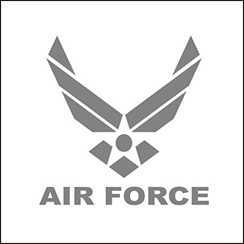 3142__S Autoaufkleber US AIR FORCE Logo Vinyl Decal Car Window Bumper Sticker ( Silver)