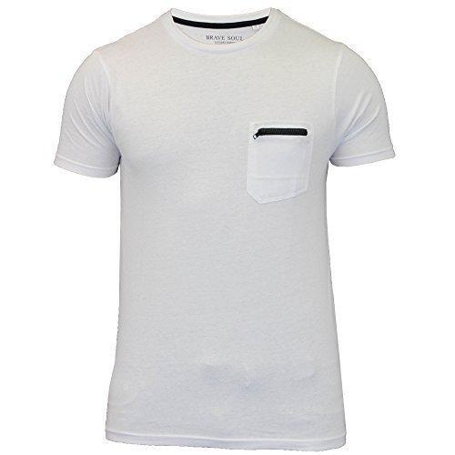 Herren T-shirt Von Brave Soul Kurzärmelig weiß - 36FAUSTIANB