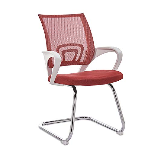 Office Desk Chair Home Office Work Task Computer Gaming Swivel Chair Ergonomic Mesh High Back with Armrest Seat,Red -