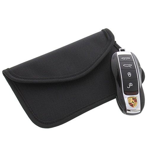 foto-kontor Strahlenschutz Tasche für Keyless Schlüssel Entry Open Go Diebstahl Schutz kein Signal Abfangen XL -