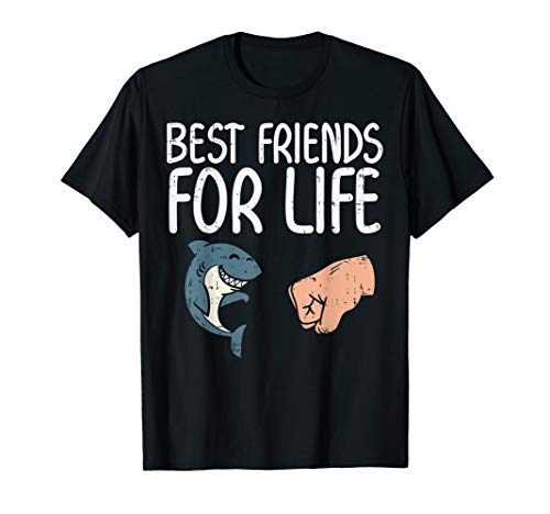 Best Friend For Life Shark Fist Bump Funny Animal Lover Gift T-Shirt