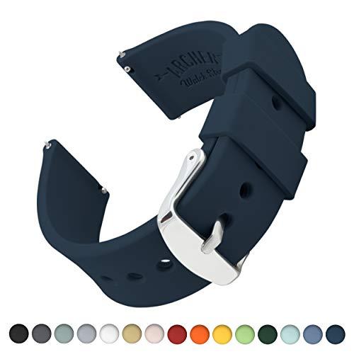 Archer Watch Straps Silikon Uhrenarmband mit Schnellverschluss - Mitternachtsblau, 22mm