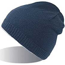 SNAPPY NAVY BEANIE HAT cuffia cappello double face 100% Cotone+100% Polar  Fleece 3932992ce41b