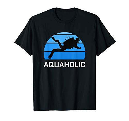 Aquaholic Scuba Diver Funny Love Diving Ocean Water Dive T-Shirt (Scuba T-shirts Tauchen)