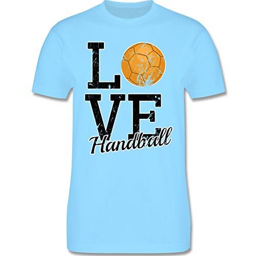 Handball - Love Handball - Herren Premium T-Shirt Hellblau