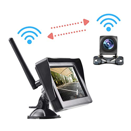 SSCJ Digital Wireless Rückfahrkamera Kit 4,3 Zoll TFT LCD Rückfahrkameras Monitor für Bus PKW LKW LED Nachtsicht Rückansicht 12-35V - Ford-lkw-bilder