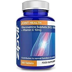 Sulfato de Glucosamina 2KCI 1000mg, 360 comprimidos. Suministro de todo 1 año.