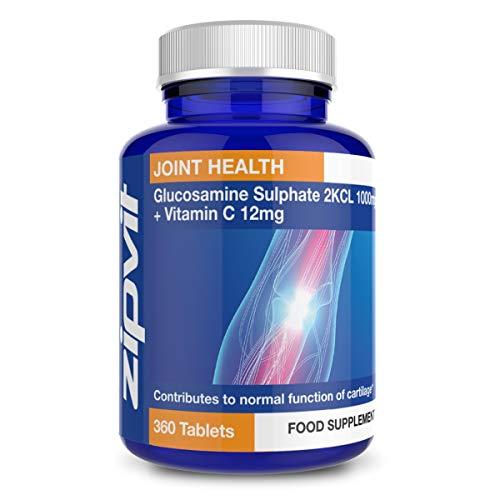 Glucosamina Solfato 2KCI 1000mg, 360 Compresse. Fornitura di 1 anno.