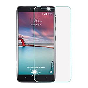 ZTE Zmax Pro Screen Protector, Asmart High Definition 9H Hardness Tempered Glass Screen Protector for ZTE Zmax Pro Z981, 2.5D Round Edge, Bubble-Free (Clear)