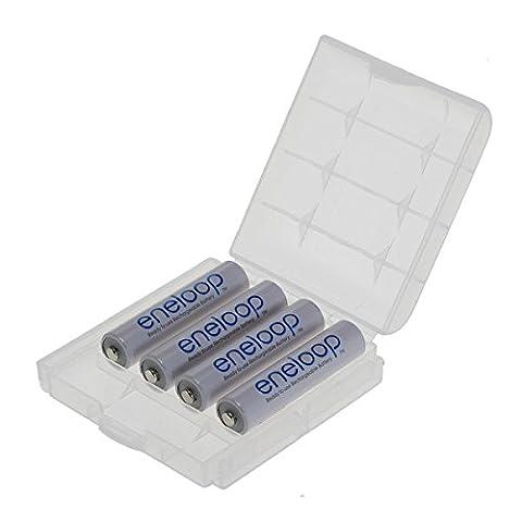 Eneloop Panasonic Lot de 4 accumulateurs AAA Micro Dans une boîte de transport OSS