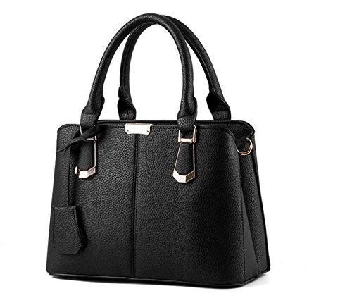 Dame Handbag Handtasche Lychee Muster Fashion City Weibliche Tasche Einfache Elegant Casual E