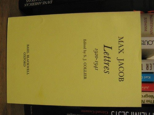 Max Jacob: Lettres 1920-1941