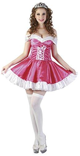 Karnevalsbud - Damen Kostüm Prinzessin- Minikleid, Rosa, Größe (Kostüm Prinzessin Tiana Für Erwachsene)