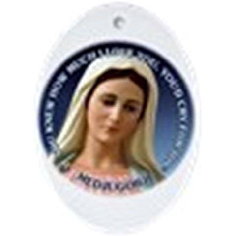 CafePress–Nostra Signora di Medjugorje–Ovale vacanza decorazione natalizia - Fare Christian Ornamenti