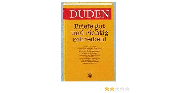 Briefe Gut Und Richtig Schreiben Amazonde Duden Verlag Bücher